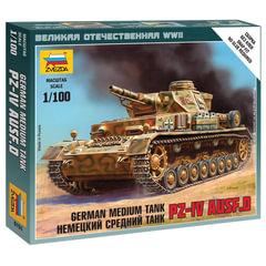 Модель для сборки ТАНК «Средний немецкий T-IV (D)», масштаб 1:100, ЗВЕЗДА, 6151