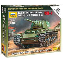 Модель для сборки ТАНК «Тяжелый советский КВ-1 с пушкой Ф-32 образца 1941», масштаб 1:100, ЗВЕЗДА, 6190