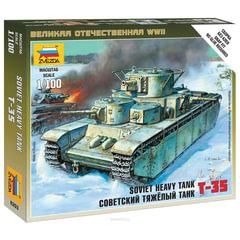 Модель для сборки ТАНК «Тяжелый советский Т-35», масштаб 1:100, ЗВЕЗДА, 6203