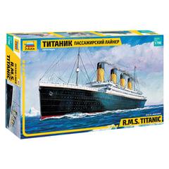 """Модель для склеивания КОРАБЛЬ, «Лайнер пассажирский """"Титаник""""», масштаб 1:700, ЗВЕЗДА, 9059"""