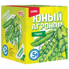 Набор для выращивания растений ЮНЫЙ АГРОНОМ «Горох», горшок, грунт, семена, LORI