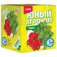 Набор для выращивания растений ЮНЫЙ АГРОНОМ «Редис», горшок, грунт, семена, LORI
