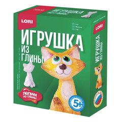 Набор для изготовления игрушки из глины «Кот», глина, краски, стек, LORI