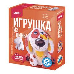 Набор для изготовления игрушки из глины «Собачка», глина, краски, стек, LORI