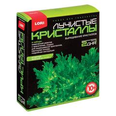 Набор для изготовления лучистых кристаллов «Зелёный кристалл», реагент, краситель, основа, LORI