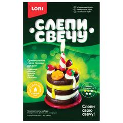 Набор для изготовления свечи «Праздничный торт», воск для лепки, фитиль, стек, LORI