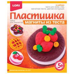Набор для лепки на магните ПЛАСТИШКА «Ароматная выпечка», тесто для лепки, стек, магнит, LORI