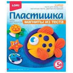 Набор для лепки на магните ПЛАСТИШКА «Подводные друзья», тесто для лепки, стек, магнит, LORI