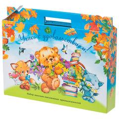 Набор для первоклассника в подарочной упаковке «Медвежата», HATBER, Нп4 17354