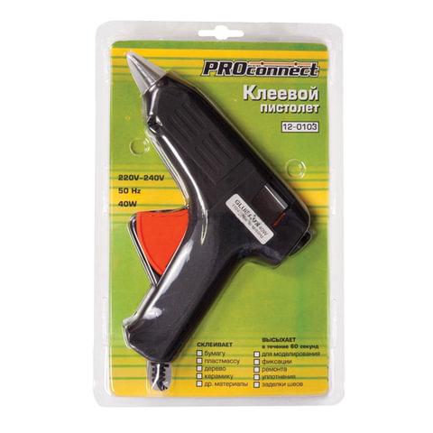 Клеевой пистолет PROCONNECT, 40 Вт, для стержня 11 мм, в блистере