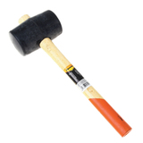 Киянка резиновая 680 г, SPARTA, черная резина, двухцветная деревянная рукоятка