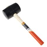 Киянка резиновая 910 г, SPARTA, черная резина, двухцветная деревянная рукоятка
