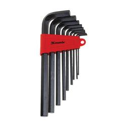 Набор ключей имбусовых, 9 шт., MATRIX, HEX (шестигранник), 2-12 мм, CrV, пластиковый футляр