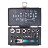 """Набор бит и торцевых головок 1/<wbr/>4"""", 26 предметов, GROSS, магнитный адаптер, храповый ключ, переходник, кейс"""