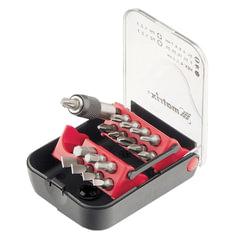 Набор бит, 18 предметов, MATRIX, магнитный адаптер, пластиковый бокс