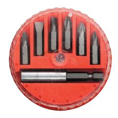 Набор бит, 7 предметов, MATRIX, магнитный адаптер, пластиковый бокс
