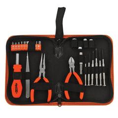 Набор слесарно-монтажный, 25 предметов, SPARTA, длинногубцы, бокорез, отвертки, биты/<wbr/>головки, пинцет
