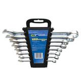 Набор ключей комбинированных 8-19 мм, 8 шт., СИБРТЕХ, CrV, хромированные, держатель с подвесом