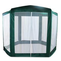 Шатер-тент садовый, 2500×2500×2200 мм, 6-ти гранный, d трубы — 16 мм, зеленый, ARNO