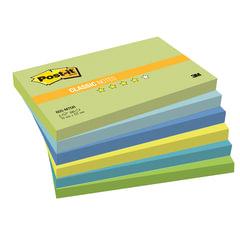 Блоки самоклеящиеся (стикеры) POST-IT, комплект 6 шт., 76×127 мм, 100 л., «Вдохновение мечты»
