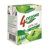 Сок «4 СЕЗОНА» яблочный, для детского питания, 0,2 л