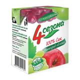 Сок «4 СЕЗОНА» виноградно-яблочный, для детского питания, 0,2 л