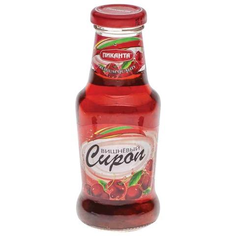 Сироп ПИКАНТА вишневый, 300 г, стеклянная бутылка