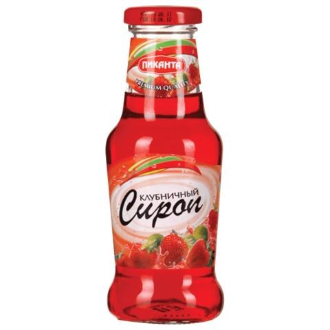 Сироп ПИКАНТА клубничный, 300 г, стеклянная бутылка