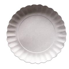 Одноразовые тарелки, комплект 100 шт., картон, d=205 мм, белые, для холодного/<wbr/>горячего