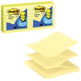 Блоки самоклеящиеся POST-IT (Z-блок), набор 6 шт. по 100 л., канареечный желтый (3М, США)