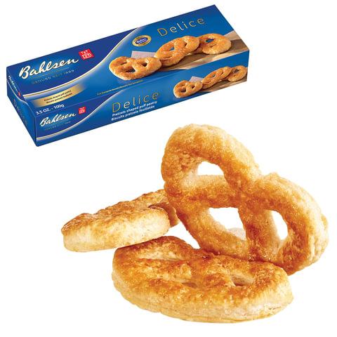 Печенье-крендельки BAHLSEN из слоеного теста Delice, в картонной упаковке, 100 г