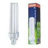 Лампа люминесцентная OSRAM DULUX D 18W/<wbr/>21-840, 18 Вт, холодный белый свет, цоколь G24d-2