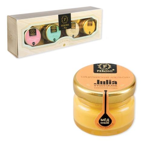 Мёд-суфле PERONI HONEY (Перони хани), набор 4 шт. х 30 мл, «Коктейльная серия», стекло, бумажная коробка