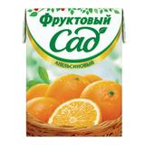 Нектар ФРУКТОВЫЙ САД, 0,2 л, апельсин, картонная упаковка