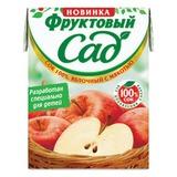Сок ФРУКТОВЫЙ САД, 0,2 л, яблоко с мякотью, картонная упаковка