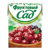 Нектар ФРУКТОВЫЙ САД, 0,2 л, вишня, черноплодная рябина, яблоко, картонная упаковка
