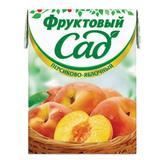 Нектар ФРУКТОВЫЙ САД, 0,2 л, персик-яблоко, картонная упаковка