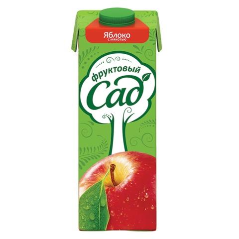 Сок ФРУКТОВЫЙ САД, 0,95 л, яблоко с мякотью, картонная упаковка