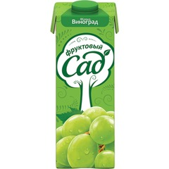Нектар ФРУКТОВЫЙ САД, 0,95 л, яблоко-виноград, картонная упаковка