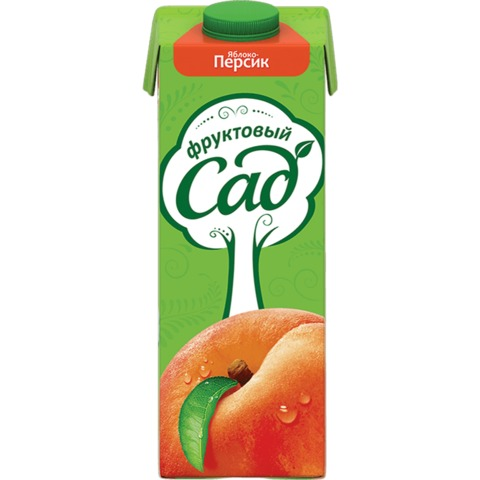 Нектар ФРУКТОВЫЙ САД, 0,95 л, персик-яблоко, картонная упаковка