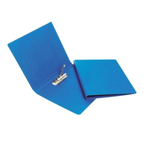 Папка с боковым металлическим прижимом BANTEX, картон/<wbr/>ПВХ, 25 мм, синяя, до 100 листов, 1,9 мм