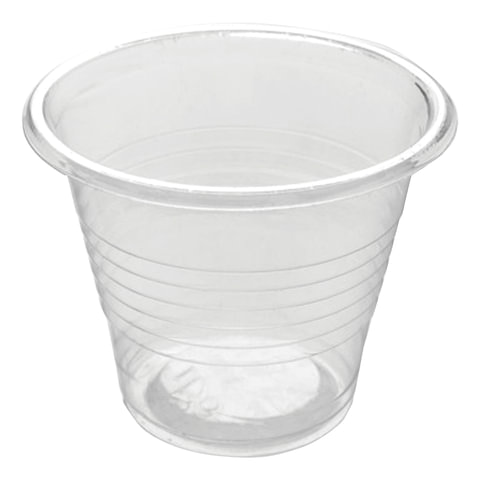 Одноразовые стаканы, комплект 3800 шт., пластиковые 50 мл, прозрачные, ПП, для холодного/горячего