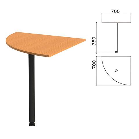 Стол приставной угловой «Фея», 700×700×750 мм, цвет орех милан (КОМПЛЕКТ)