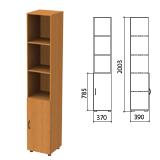 Шкаф полузакрытый «Фея», 370×390×2000 мм, цвет орех милан (КОМПЛЕКТ)