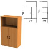 Шкаф полузакрытый «Фея», 740×390×1220 мм, цвет орех милан (КОМПЛЕКТ)