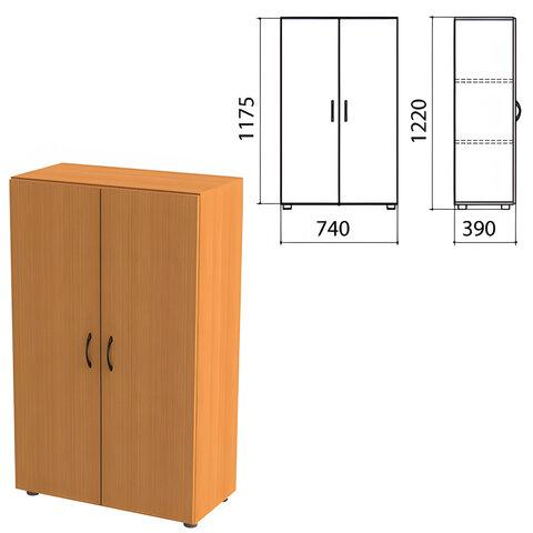 Шкаф закрытый «Фея», 740×390×1220 мм, цвет орех милан (КОМПЛЕКТ)