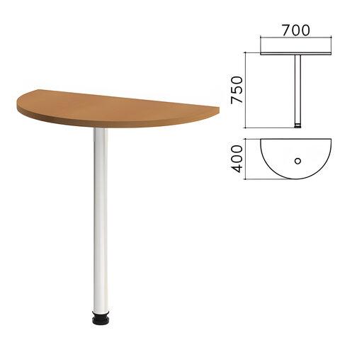 """Стол приставной полукруг """"Монолит"""", 700х400х750 мм, цвет орех гварнери (КОМПЛЕКТ)"""