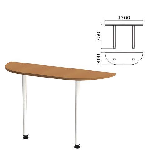 Стол приставной полукруг «Монолит», 1200×400×750 мм, цвет орех гварнери (КОМПЛЕКТ)
