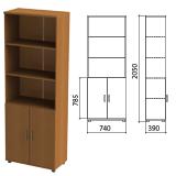 Шкаф полузакрытый «Монолит», 740×390×2050 мм, цвет орех гварнери (КОМПЛЕКТ)