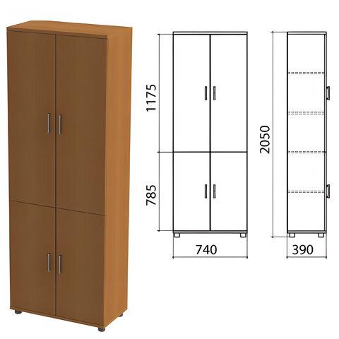 Шкаф закрытый «Монолит», 740×390×2050 мм, цвет орех гварнери (КОМПЛЕКТ)